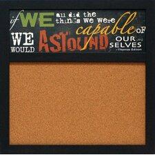 "Astound 1' 8"" x 1' 8"" Bulletin Board"