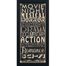 Movie Night II Framed Textual Art