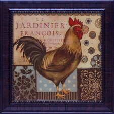 <strong>Artistic Reflections</strong> Aqua Rooster I Framed Art