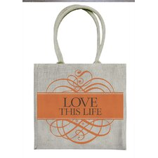 <strong>Artistic Reflections</strong> Love This Life Tote Bag