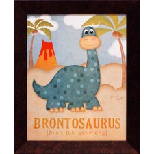 Brontosaurus Framed Art
