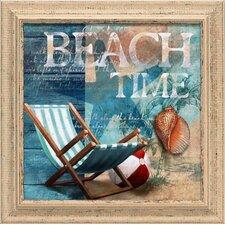 Beach Time Framed Graphic Art