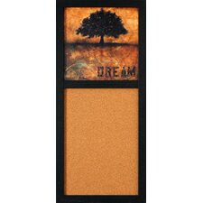 """Don't Forget Your Dreams 2' 8"""" x 1' 2' Bulletin Board"""
