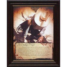 A Cowboy's Prayer Framed Graphic Art
