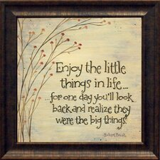 Enjoy the Little Things Framed Textual Art