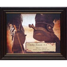 <strong>Artistic Reflections</strong> Cowboy Reason #3 Framed Art