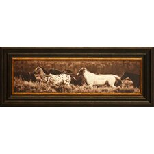 Sepia Horses Framed Art