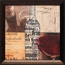 Wine Collage Framed Art