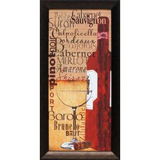 Red Wine Framed Graphic Art