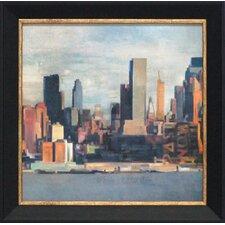 New York Skyline II Framed Painting Print