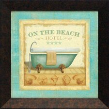 Beach Hotel I Framed Graphic Art
