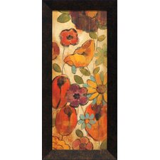 Floral Sketches on Linen II Framed Painting Print