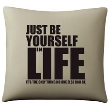 Be Yourself Cotton Pillow