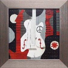 Rock n Roll Guitars Framed Graphic Art