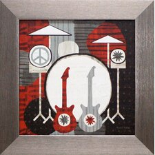 <strong>Artistic Reflections</strong> Rock n Roll Drums Framed Art