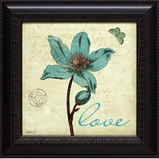 Touch of Blue IV Love Framed Graphic Art