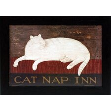 Cat Nap Inn Framed Art