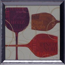 Colorful Wine II Framed Art