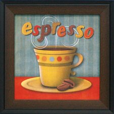 Espresso Framed Vintage Advertisement