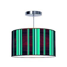 Organic Modern Stripey Vertical Pendant