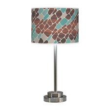 "Organic Modern Cell Stem 24"" Table Lamp with Linen Shade"