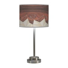 "Organic Modern Facet Stem 24"" Table Lamp with Drum Shade"