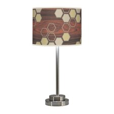 "Organic Modern Hex Stem 24"" Table Lamp with Linen Shade"