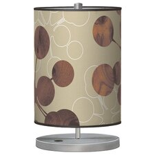 "Organic Modern Bubble Stem 21"" H Table Lamp with Drum Shade"
