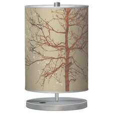"Organic Modern Tree Cylinder 21"" H Table Lamp with Drum Shade"