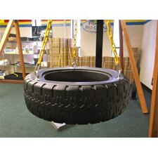 3 Chain Plastic Tire Swing with Coated Chain