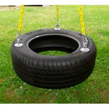 <strong>Eastern Jungle Gym</strong> 3 Chain Rubber Tire Swing with Coated Chain