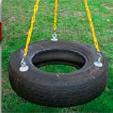 Plastic Tire Swing with Coated Chain