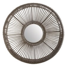 Wicker Spoke Mirror