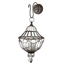 <strong>Lazy Susan USA</strong> Wall Mount Wire Lantern Candleholder