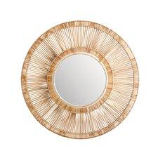 Rattan Spoke Mirror
