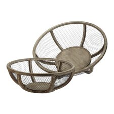 <strong>Lazy Susan USA</strong> Wire Atlas Bowl (Set of 2)
