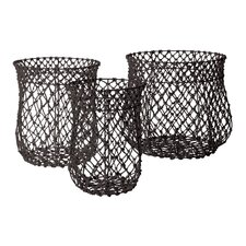 <strong>Lazy Susan USA</strong> Nested Fisherman Rope Baskets 3 Piece Set