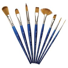 Cotman Synthetic Watercolor Angle Short Handle Brush (Set of 6)