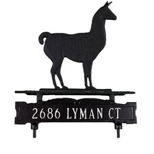 One Line Lawn Sign with Llama