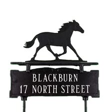 Two Line Lawn Sign with Horse