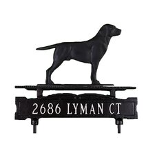One Line Lawn Sign with Retriever