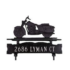One Line Lawn Sign with Motorcycle