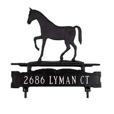 One Line Lawn Sign with Gaited Horse
