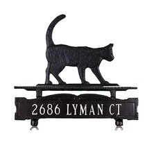 One Line Mailbox Sign with Cat