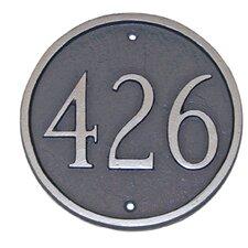 Estate Circle Address Plaque
