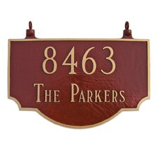 Vanderbilt Two Sided Hanging Address Plaque