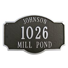 Montague Standard Address Plaque