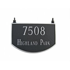 Prestige Arch Two Sided Hanging Address Plaque