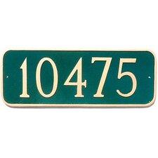 Rectangle Address Plaque