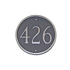 Circle Standard Address Plaque